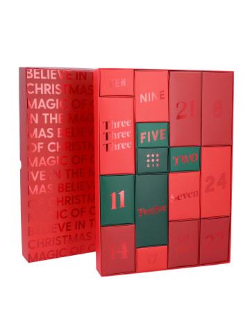 Six Adventskalender zum Befüllen Rot und Grün in lila