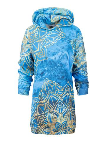 Mr GUGU & MISS GO Oversized Kleid Gold Boho Oversize Kleider in blue