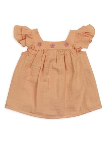 Panco Kleider - aus Musselinstoff - für Mädchen in Orange