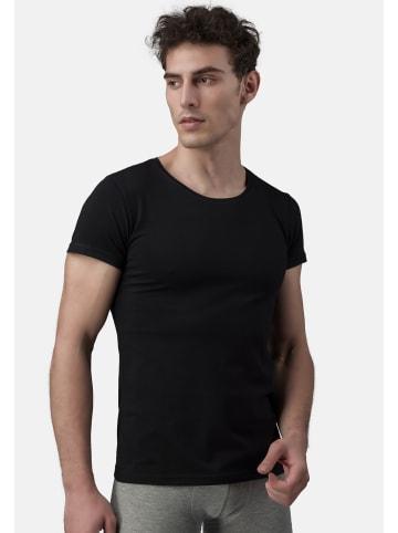 Burnell & Son T-Shirt - Unterhemd - Rundhals 4er Pack - Basic in Schwarz