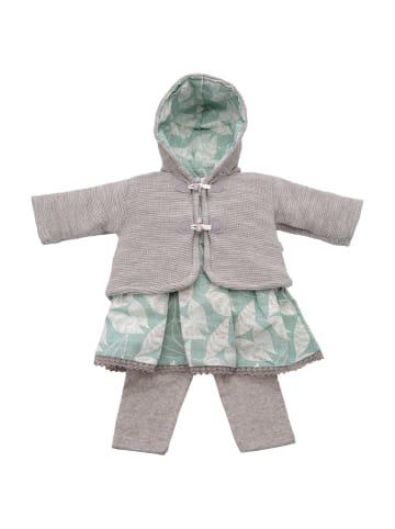 ANELY Mädchen Bekleidungsset 3-teilig Kleid Jacke Hose Strick Kombi in Grün