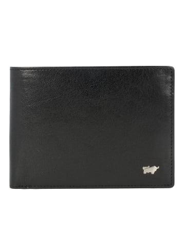 Braun Büffel Basic Secure Geldbörse RFID Leder 12 cm in schwarz