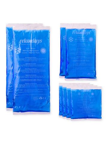 Relaxdays 8x Kühlpads in Blau