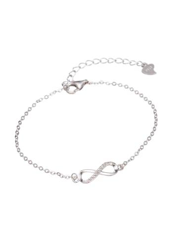 Mia Milano Armkette für Damen Armband mit Unendlichkeitszeichen in silber