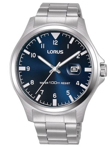 Lorus Herrenuhr Blau / Silber