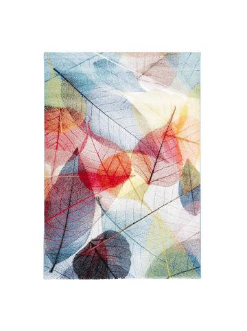 Pergamon Designer Teppich Faro Tropical Bunte Blätter in Bunt