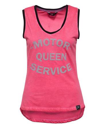 Queen Kerosin Damen Tank-Top mit legerem Oilwash in rot