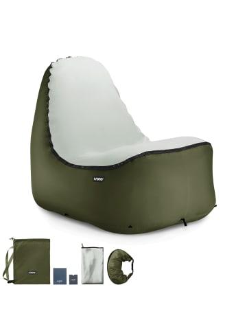 TRONO Campingstuhl Lounge Stuhl in Dunkelgrün