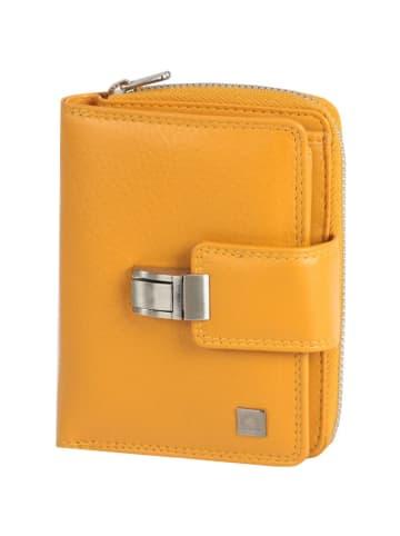 Greenburry Spongy Geldbörse Leder 9,5 cm in yellow