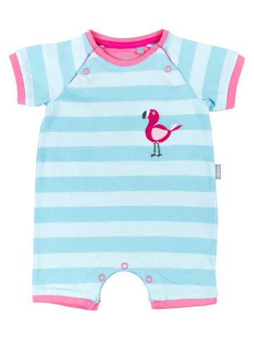 """Sigikid Schlaf-Overall """"Flamingo"""" in Blau/Weiß"""