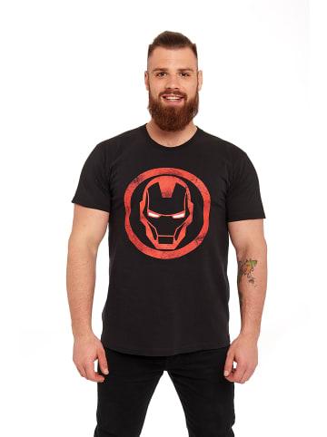 MARVEL Iron Man T-Shirt Sign in schwarz