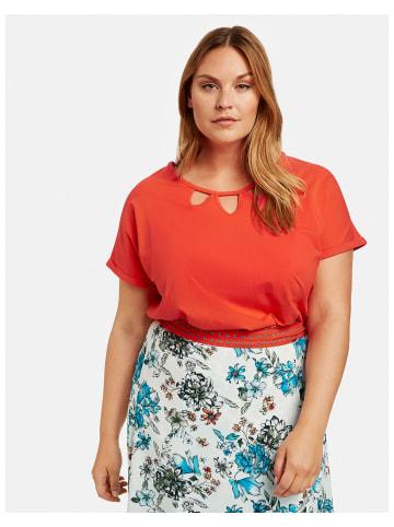 SAMOON T-Shirt Kurzarm Rundhals in Orange