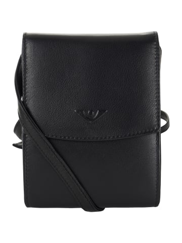 VLD VOi Leather Design Soft Adalie Umhängetasche Leder 10 cm in schwarz