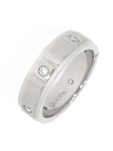 """Gooix Ring """"mit 6 Zirkonia mattiert / poliert 5,5 mm"""" in silber"""