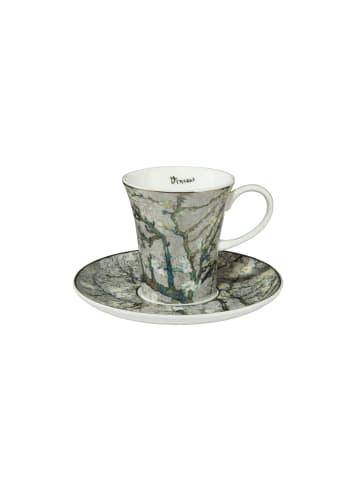 """Goebel Espressotasse """" Vincent van Gogh - Mandelbaum Silber """" in silber"""