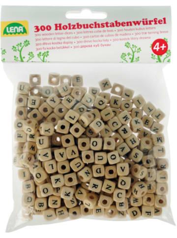 LENA Holzperlen Buchstabenwürfel, 300 Stück