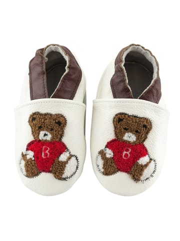 """SmileBaby Lauflernschuhe """"Teddybär"""" in weiß"""