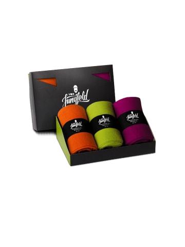 Von Jungfeld Socken 3er Pack in Orange/Magenta/Grün