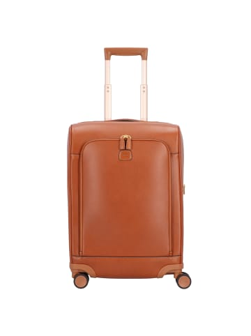 BRIC`s Life 4-Rollen Kabinentrolley Leder 55 cm in cuoio