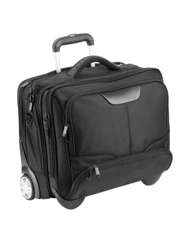 Dermata Business-Trolley 43 cm Laptopfach in schwarz