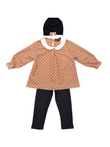 ANELY Mädchen Bekleidungsset Hose Pullover Longsleeve Kombi Blumen in Dunkelblau