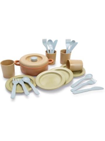 Dantoy BIOplastic Ess-Service für 4 in Geschenkbox, 22-tlg., beige-kombi