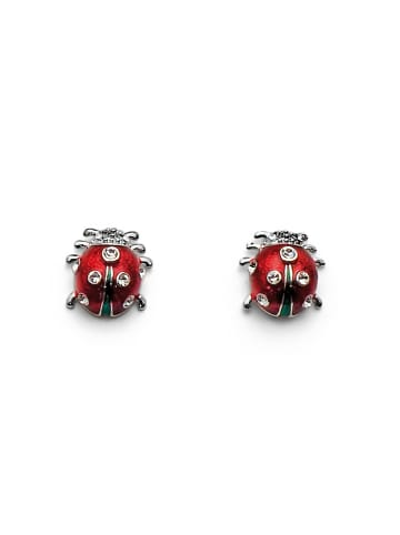 Oliver Weber Ohrstecker Ladybug in weiss/rot