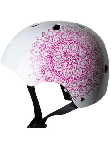 "SkullCap Skaterhelm / Fahrradhelm ""Design Mandala"" in weiß"