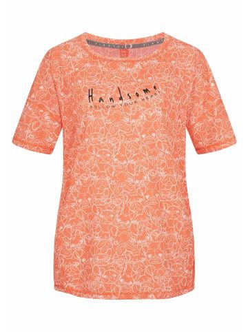 ViertelMond T-Shirt Resa in orange/weiß