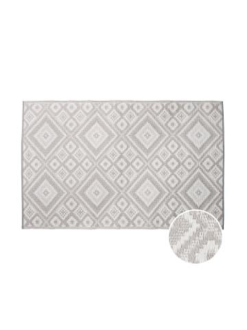 Butlers In- & Outdoor-Teppich Ethno L 180 x B 120cm COLOUR CLASH in grau