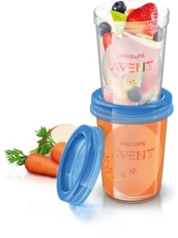 Philips Avent Aufbewahrungsbecher für Babynahrung SCF639/05, 5x 240 ml inkl. Deckel