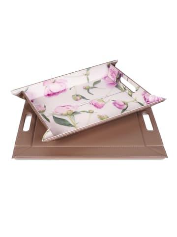 FREEFORM Motivdruck-Wendetablett DUO Pink Flowers - 45 x 35 cm