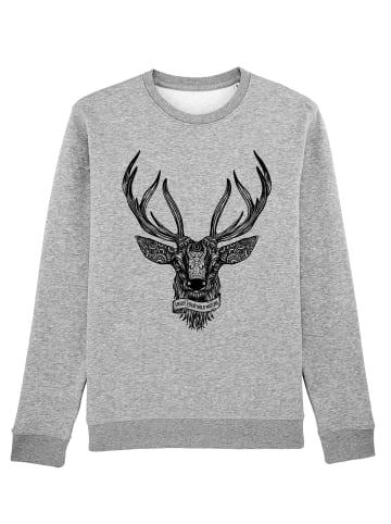 Wat? Apparel Sweatshirt Enjoy Your Wild Nature in Grau meliert