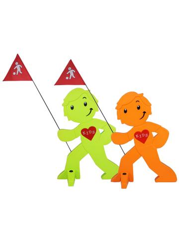 StreetBuddy StreetBuddy  Warnfigur für Kindersicherheit in Grün und Orange. 2-er Pack