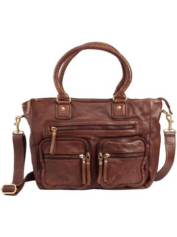DuDu Handtasche Leder 33 cm in onyx brown