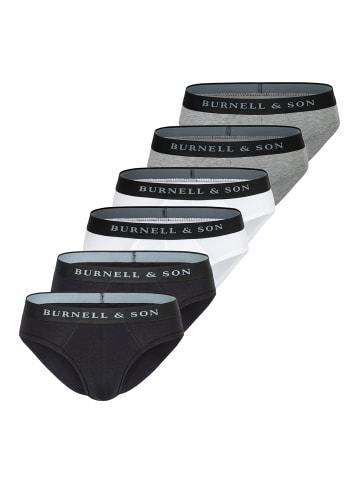 Burnell & Son Slip / Unterhose 6er Pack - Basic in Mix
