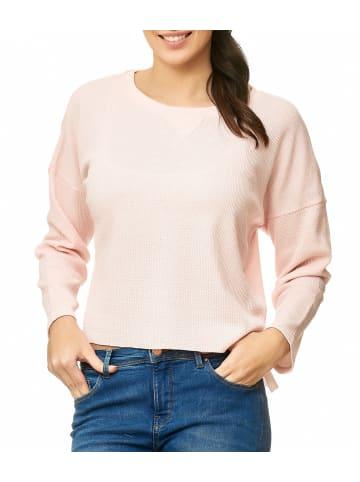 Eight2Nine Longsleeve Pullover Plain Sweat Shirt Jersey Kurz in Rosa