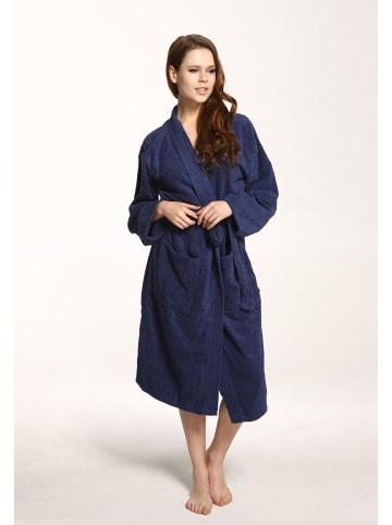 Grace Grand Spa Bademantel Kimono in Marine