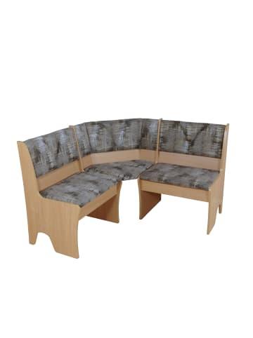 Möbel-direkt Eckbank 124x124 cm Dunja in buche natur - schoko