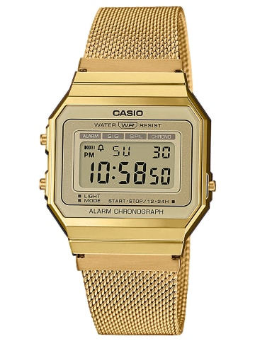 Casio Vintage Damen-Digitaluhr Anthrazit / Gold