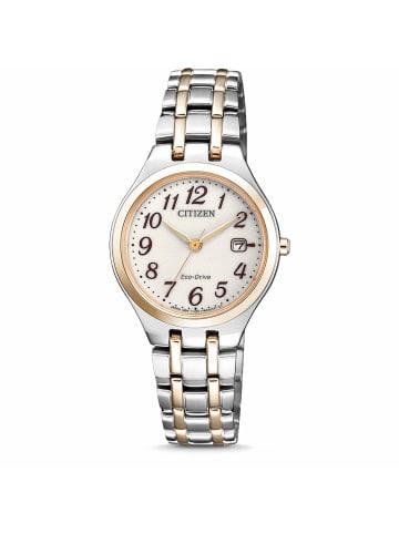 Citizen Analog Uhr 'EW2486' In weiß/Mehrfarbig