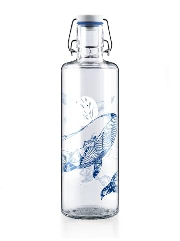"Soulbottles Trinkflasche ""souldiver"" in Blau/Weiß - 1,0l"
