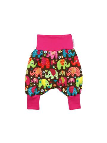 """Kleine Könige Baby Pumphose """"Elefantenparty"""" in Pink"""