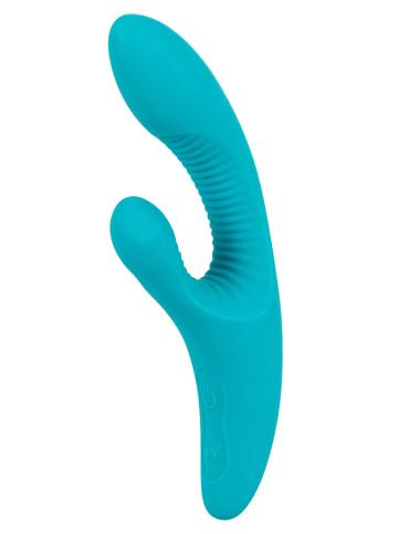 Javida Vibrator mit Klitorisreizer VIBE WITH CLIT STIMULATOR in grün
