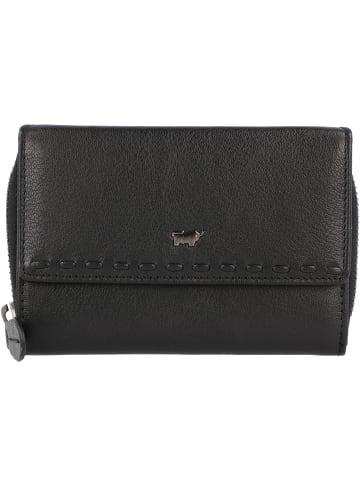Braun Büffel Soave Geldbörse Leder 14 cm in schwarz