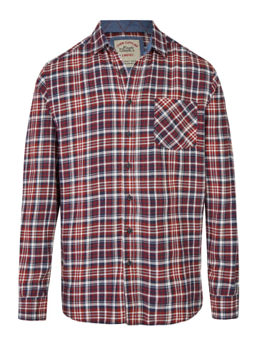 Eagle Denim Flanellhemd in rot blau