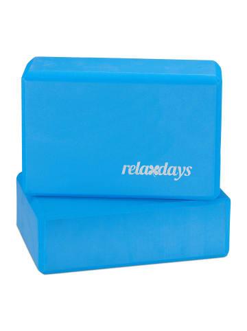 Relaxdays 2x Yogablock in Blau