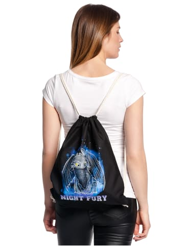 DRAGONS Turnbeutel Night Fury Bag in schwarz