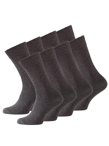 VCA® Baumwoll Socken 8 Paar in Anthrazit