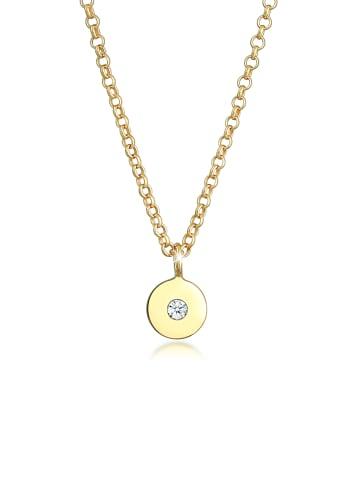 Elli DIAMONDS  Halskette 375 Gelbgold Geo, Kreis in Gold